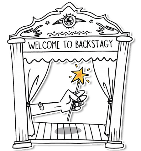 backstagy welcome sticker